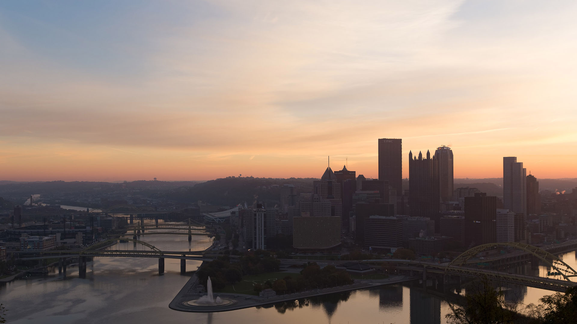 live wallpaper time lapse pittsburgh downtown photograph high quality wallpaper sunrise dawn